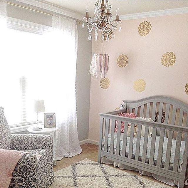 Glam Pink And Gold Nursery Via Peoniesandtwine Girl Nursery