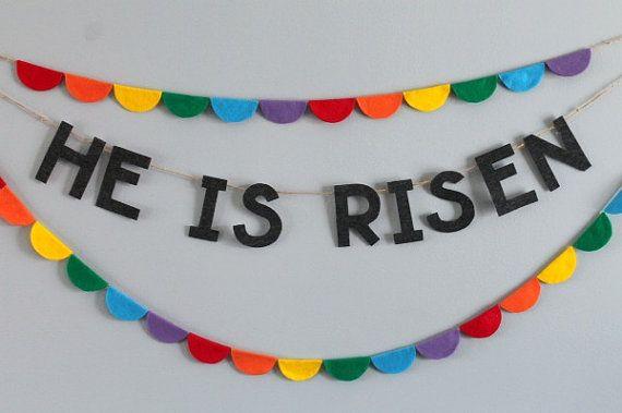 He Is Risen banner | Easter & Springtime | Pinterest ...