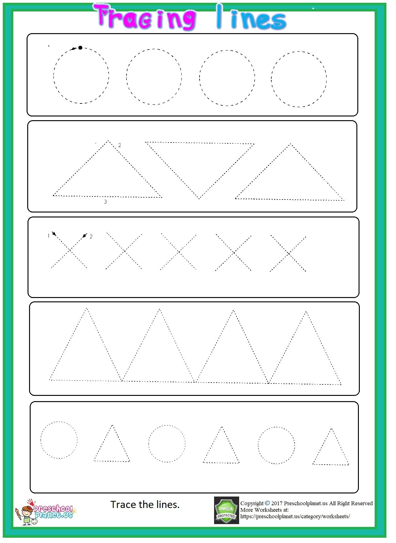 Trace Line Worksheet