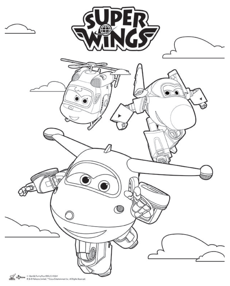 Pin By Michellyne Barros On Super Wings Airplane Coloring Pages