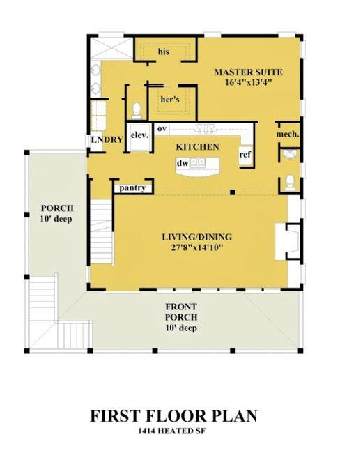 All House Plans Cedar Point Cedarpoint Coastal House Plans One Bedroom House One Bedroom House Plans