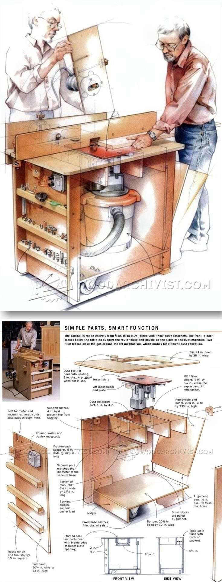 Homemade router table top  Ultimate Router Table Plans  Router Tips Jigs and Fixtures
