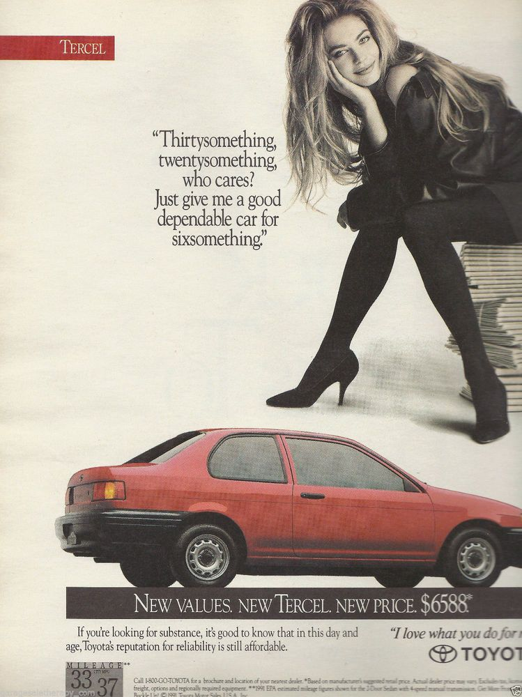 Some car ads from 80s and 90s : cars