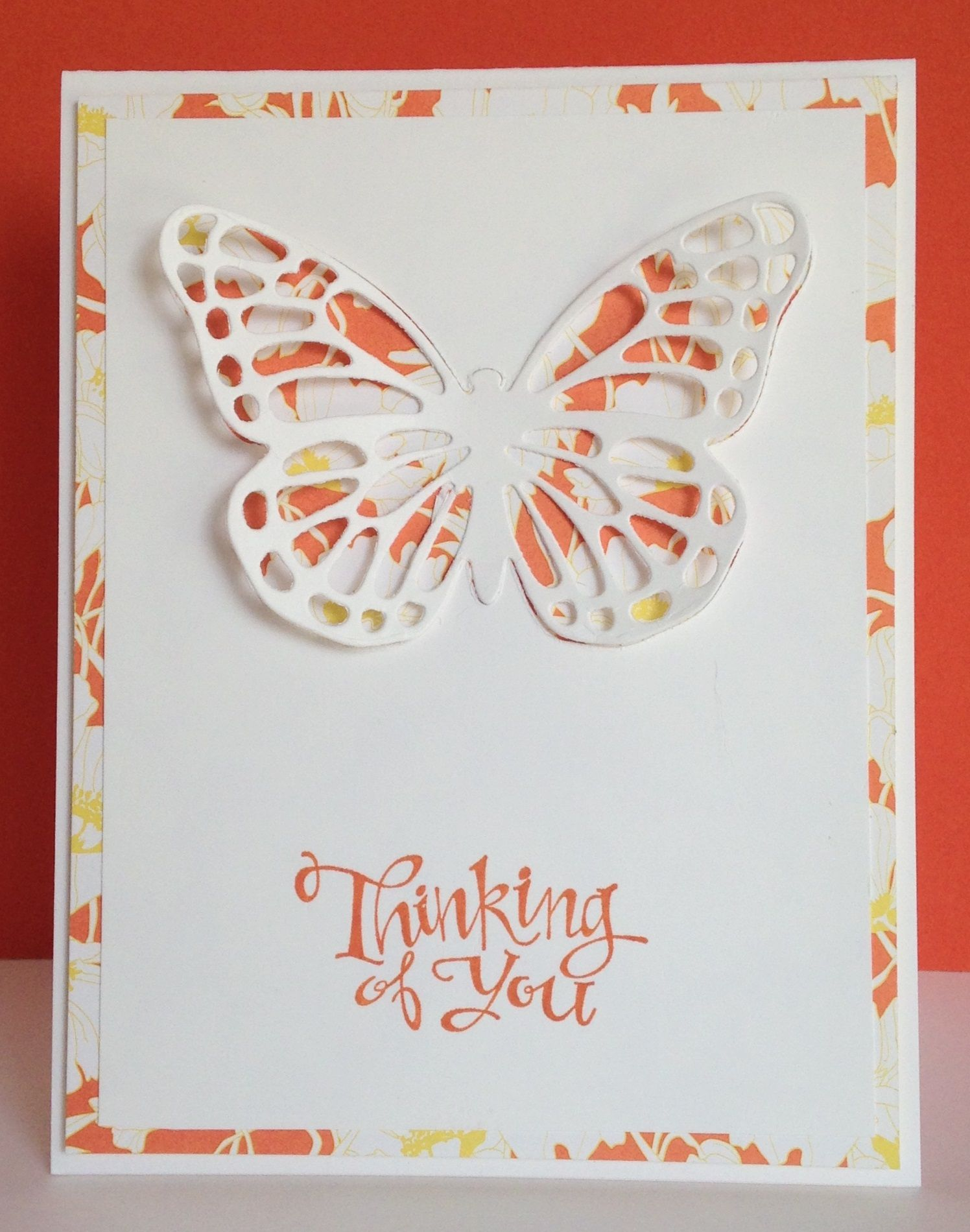 Fun with the butterfly framelits butterfly bird cards and easy cards