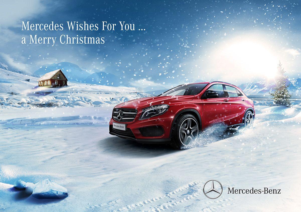 MercedesBenz Christmas on Behance