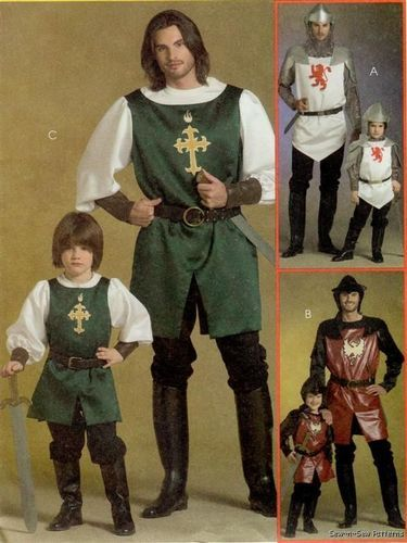 XL COSTUME ROBE FANTAISIE HOMME Médiéval King George Knight Templar