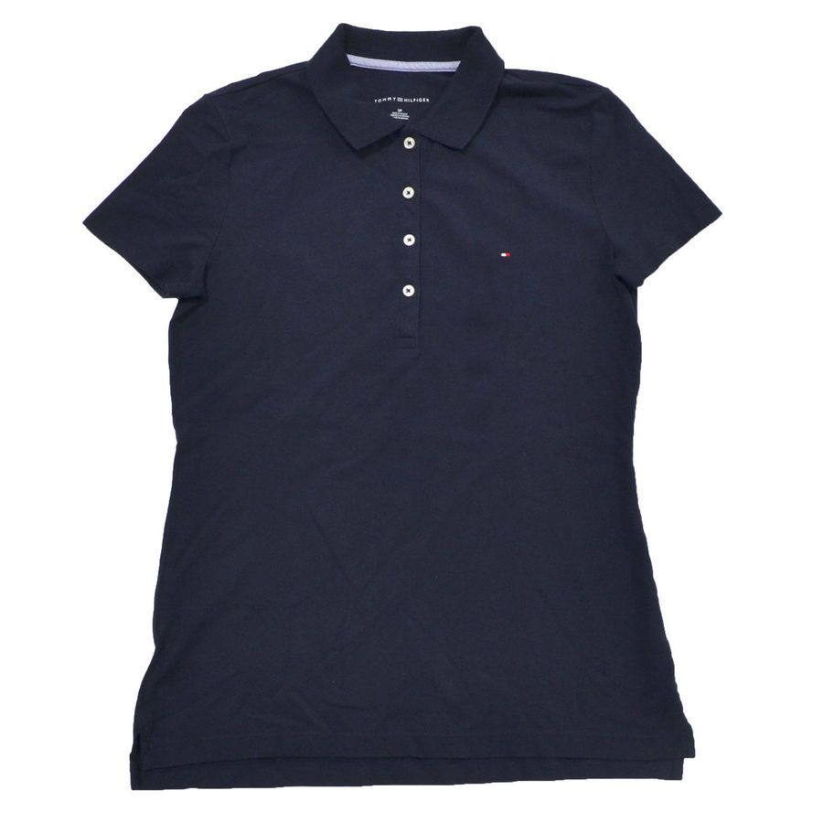 Tommy hilfiger womens polo shirt classic fit heritage knit button