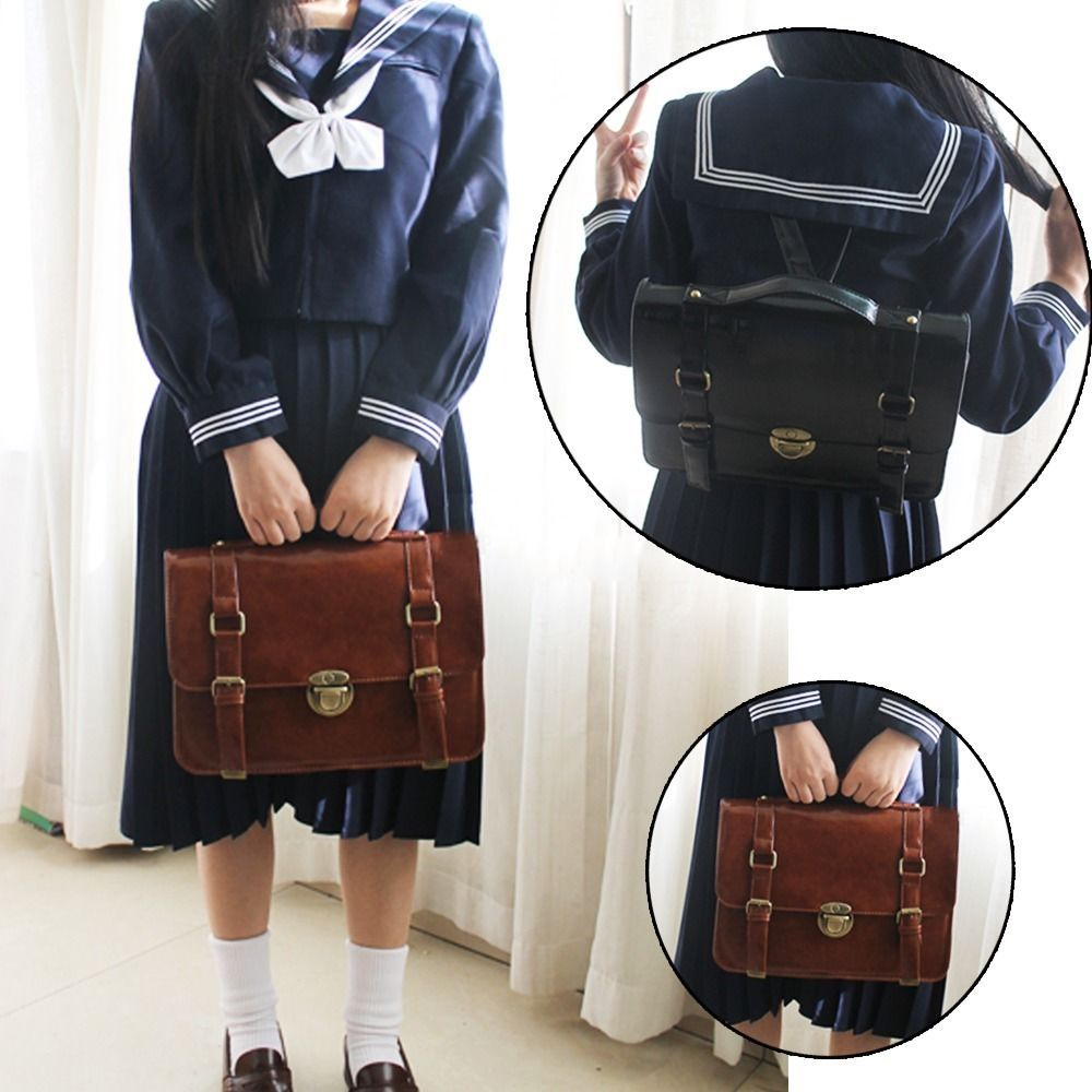 5c09ce3743fa Vintage Japanese Cosplay JK Uniform Shoulder Backpacks School Book Bag  Handbag  NEWBRAND  Backpack