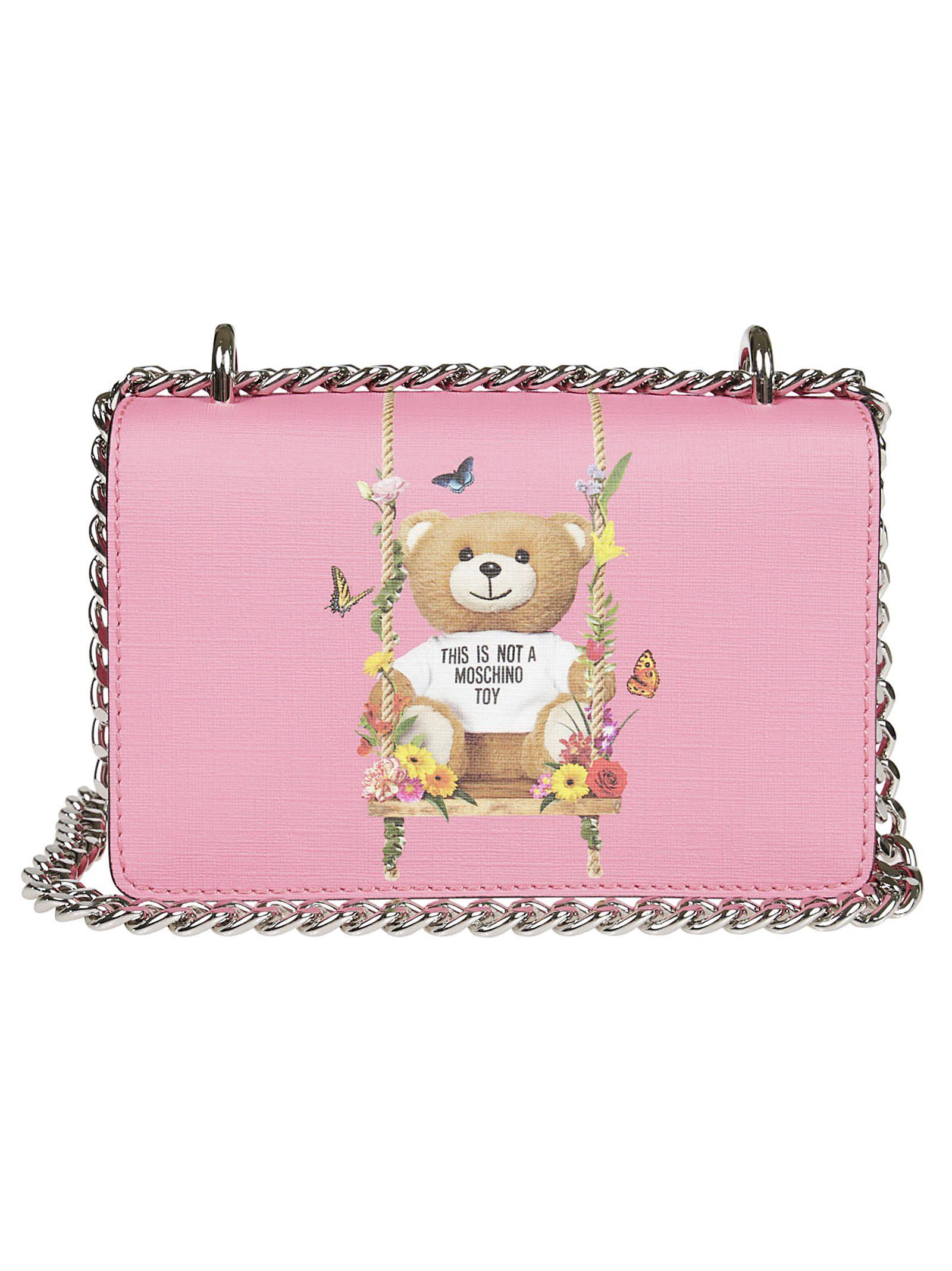 Teddy Shoulder Bag in Pink Calfskin Moschino 100% Guaranteed Online Lowest Price Sale Online oLMYnTZEP