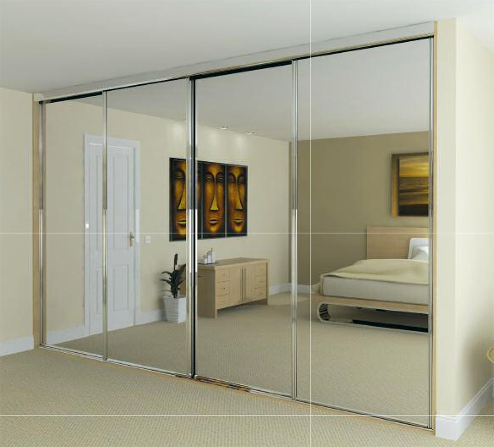Mirror Design Ideas: Cool Sliding Mirror Door Wardrobes