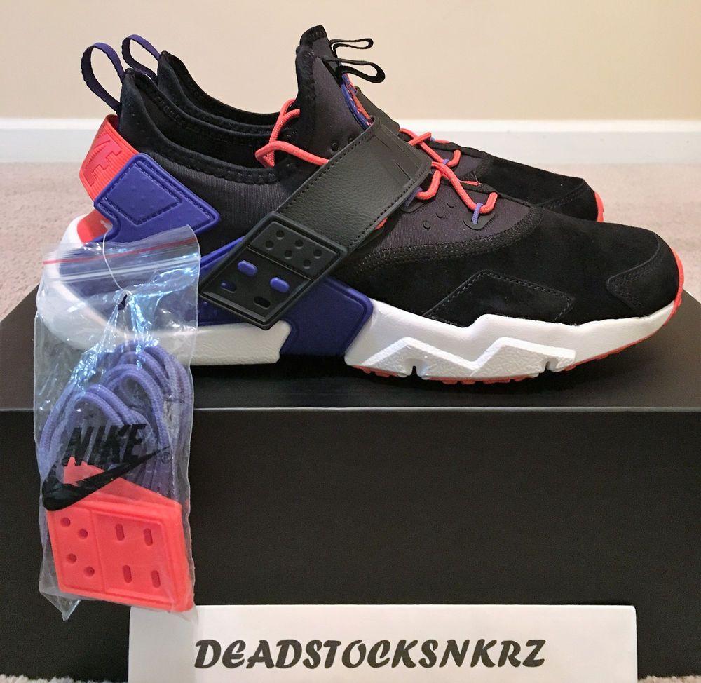 7193010e593 Nike Air Huarache Drift PRM Black Rush Violet Rush Orange AH7335 002 ...