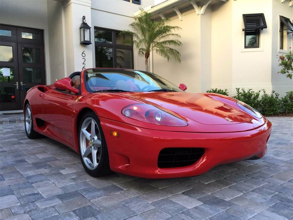 Car Brand Auctioned Ferrari 360 Modena Spider 2004 Car Model