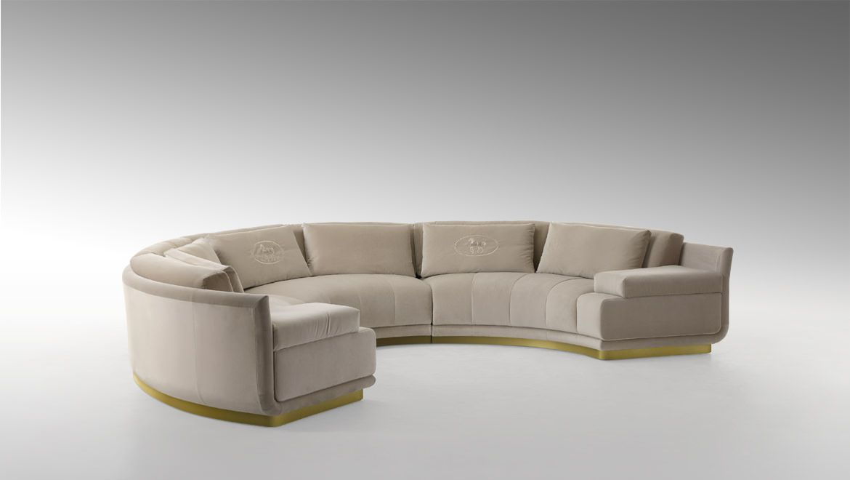 Artu Round Sectional Sofa Round Sofa Sofa Furniture Curved Sofa