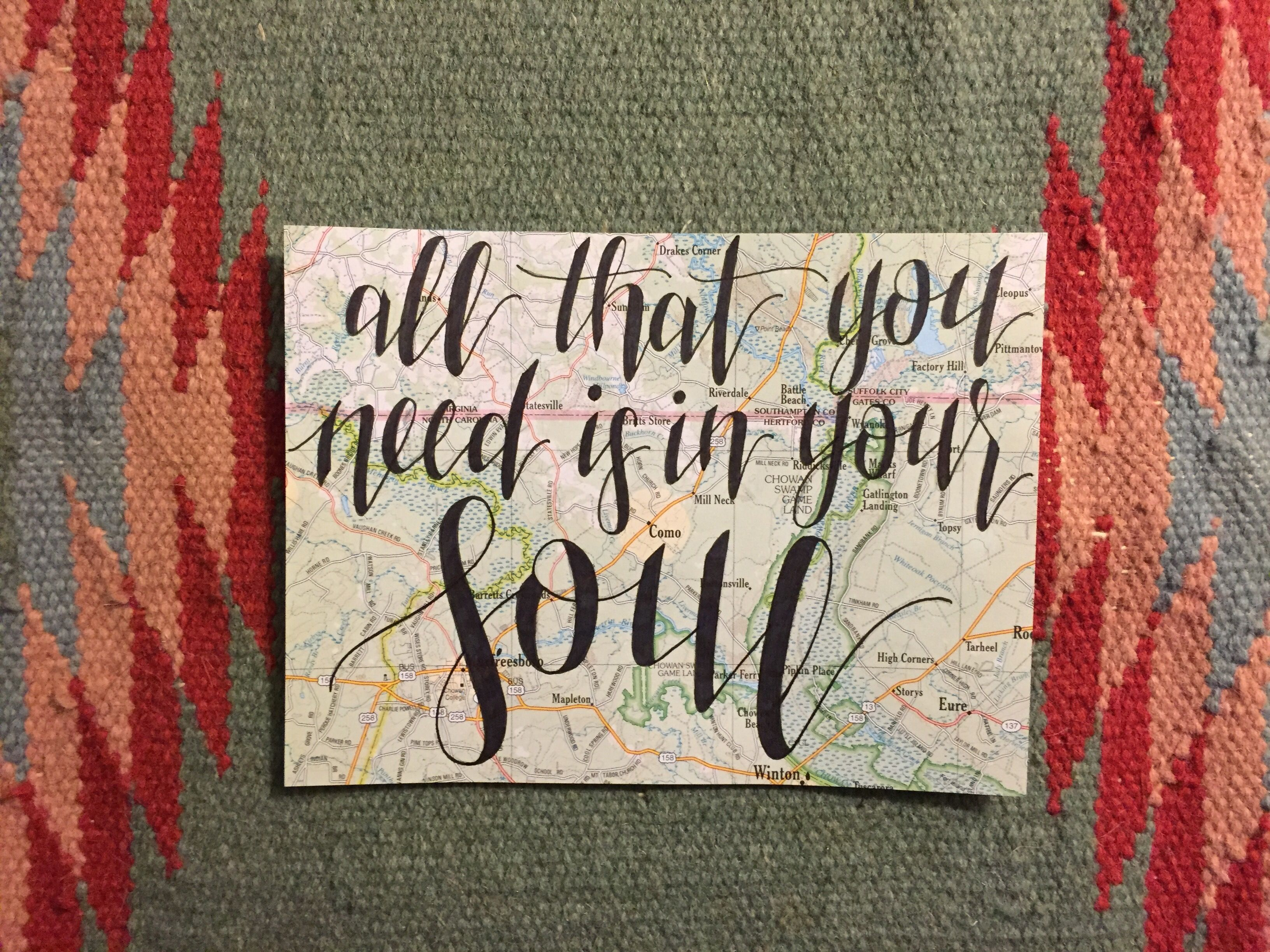 Lynyrd Skynyrd- All That You Need is in Your Soul- Hand Lettered on ...