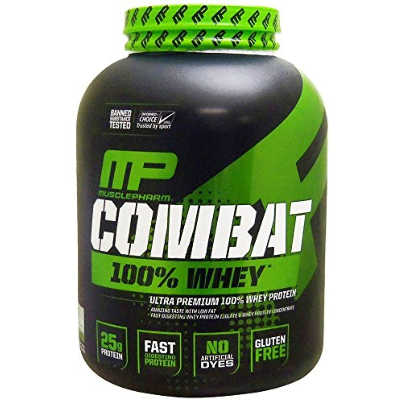 Muscle pharm combat 100 whey protein powder vanilla 5