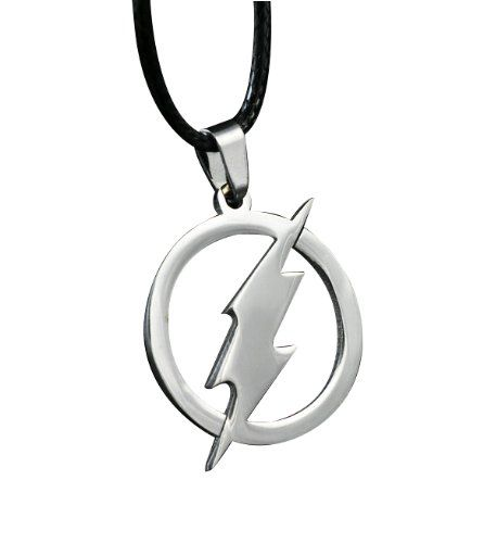 Flash Superhero Pendant Necklace Steel Chain Fashion Stainless Men Procuffs