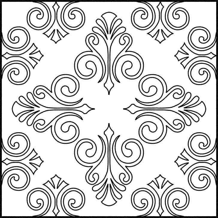 Gambar Mewarnai Corak Batik Bunga, Gambar, Pola