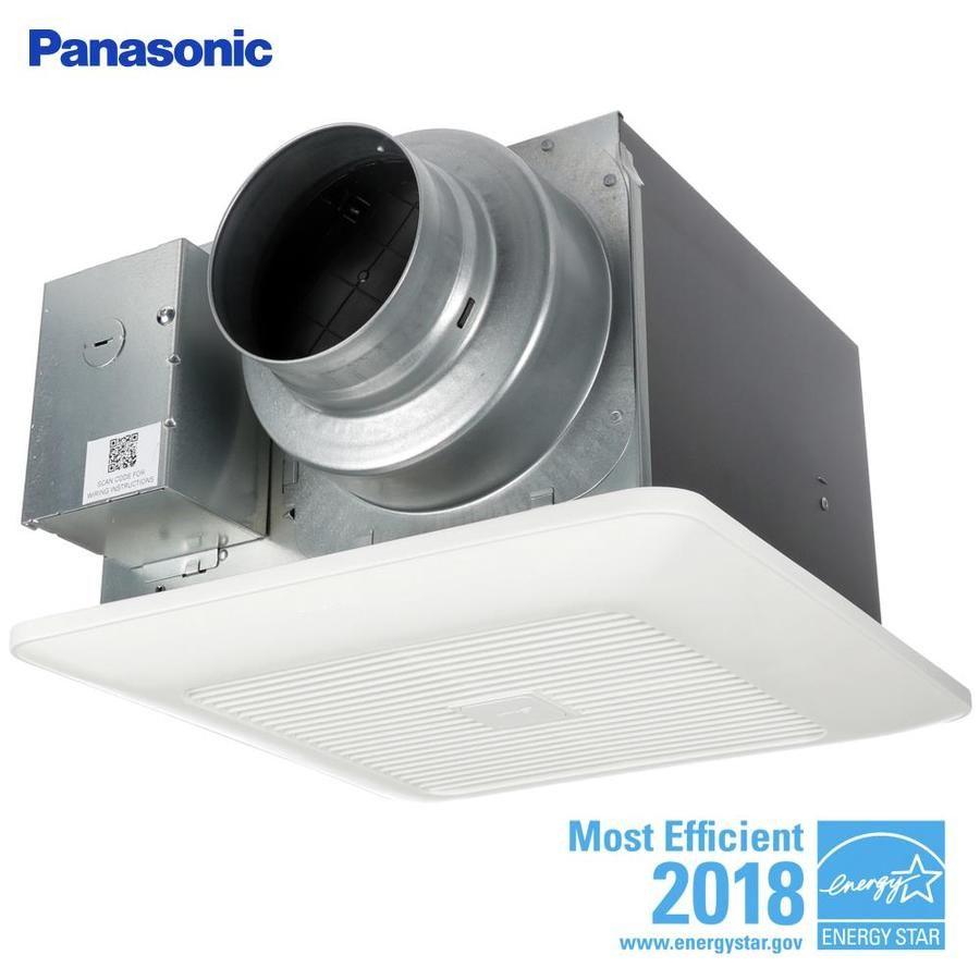 Panasonic Whispergreen 0.4-Sone 110-Cfm White Bathroom Fan ...