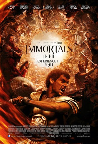 Poster Of Immortals 2011 Dual Audio Hindi English 720p Bluray