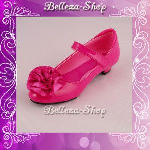 Hot pink wedding flower girl pageant dress shoes 125 flower girls hot pink shoes for girls hot pink wedding flower girl pageant dress shoes 12 5 ebay mightylinksfo