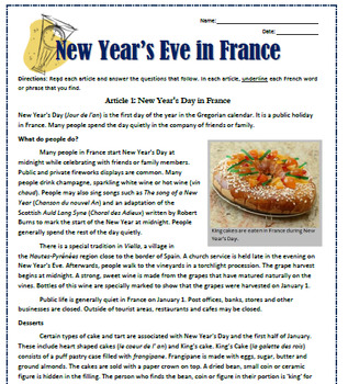 New Year's Eve in France: Reading, Substitute Plan ...