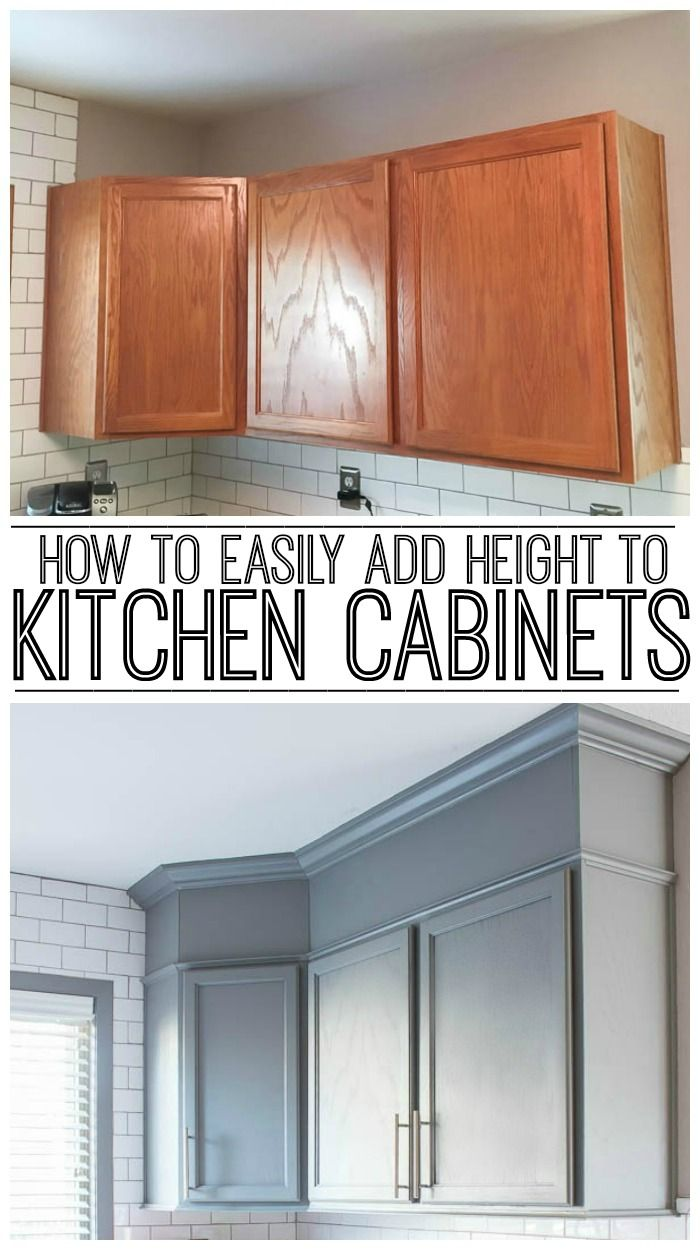 How To Easily Add Height To Your Kitchen Cabinets | Holzwerken, DIY ...