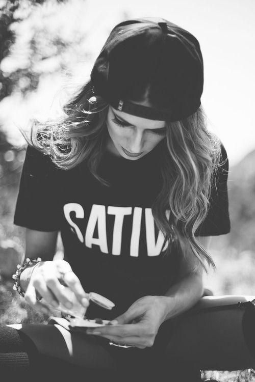 sative tee cap blonde hair girl rock and roll rocker rocking love perfect