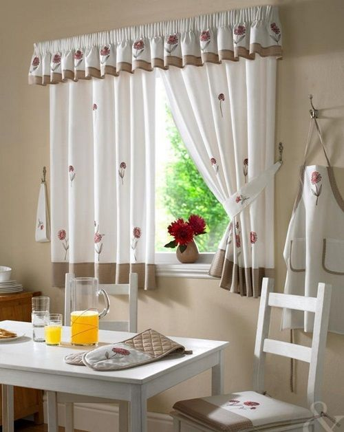 Contemporary Kitchen Curtain Designs  window curtains in
