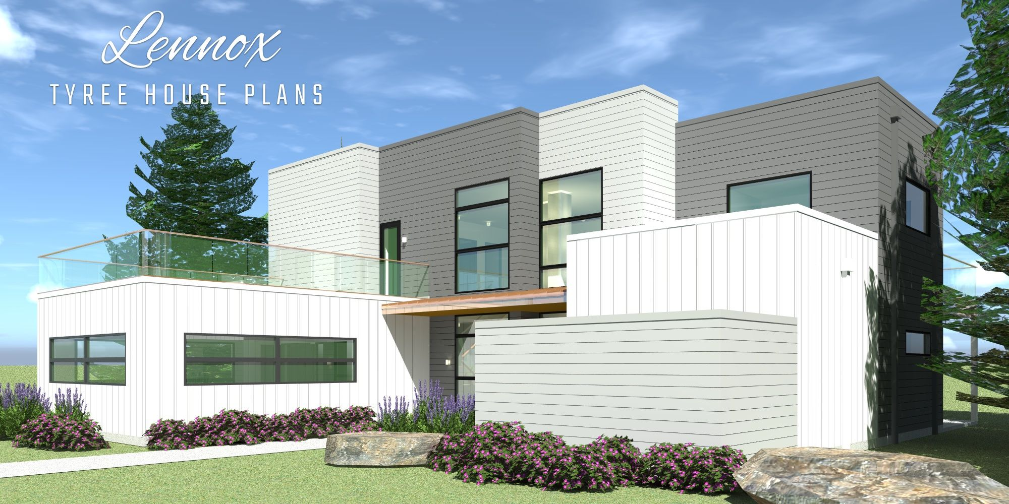 4 Bedroom Modern Home With Private Office Modern Style
