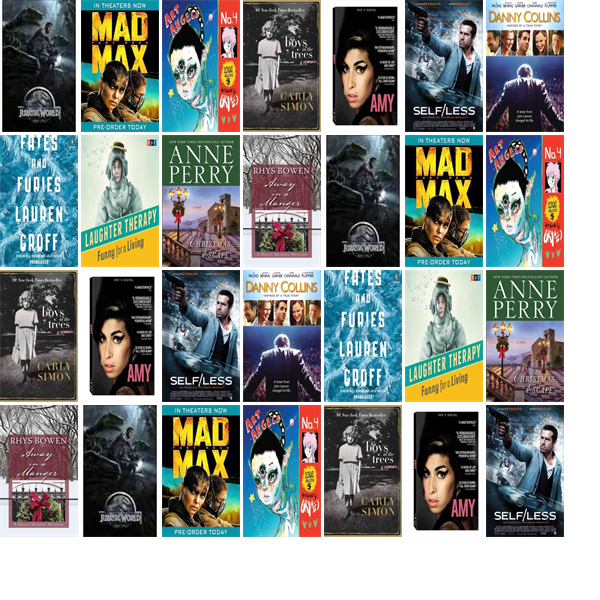 """Wednesday, December 30, 2015: The Greenfield Public Library has one new bestseller, five new videos, two new audiobooks, one new music CD, and two other new books.   The new titles this week include """"Jurassic World,"""" """"Mad Max: Fury Road,"""" and """"Art Angels."""""""