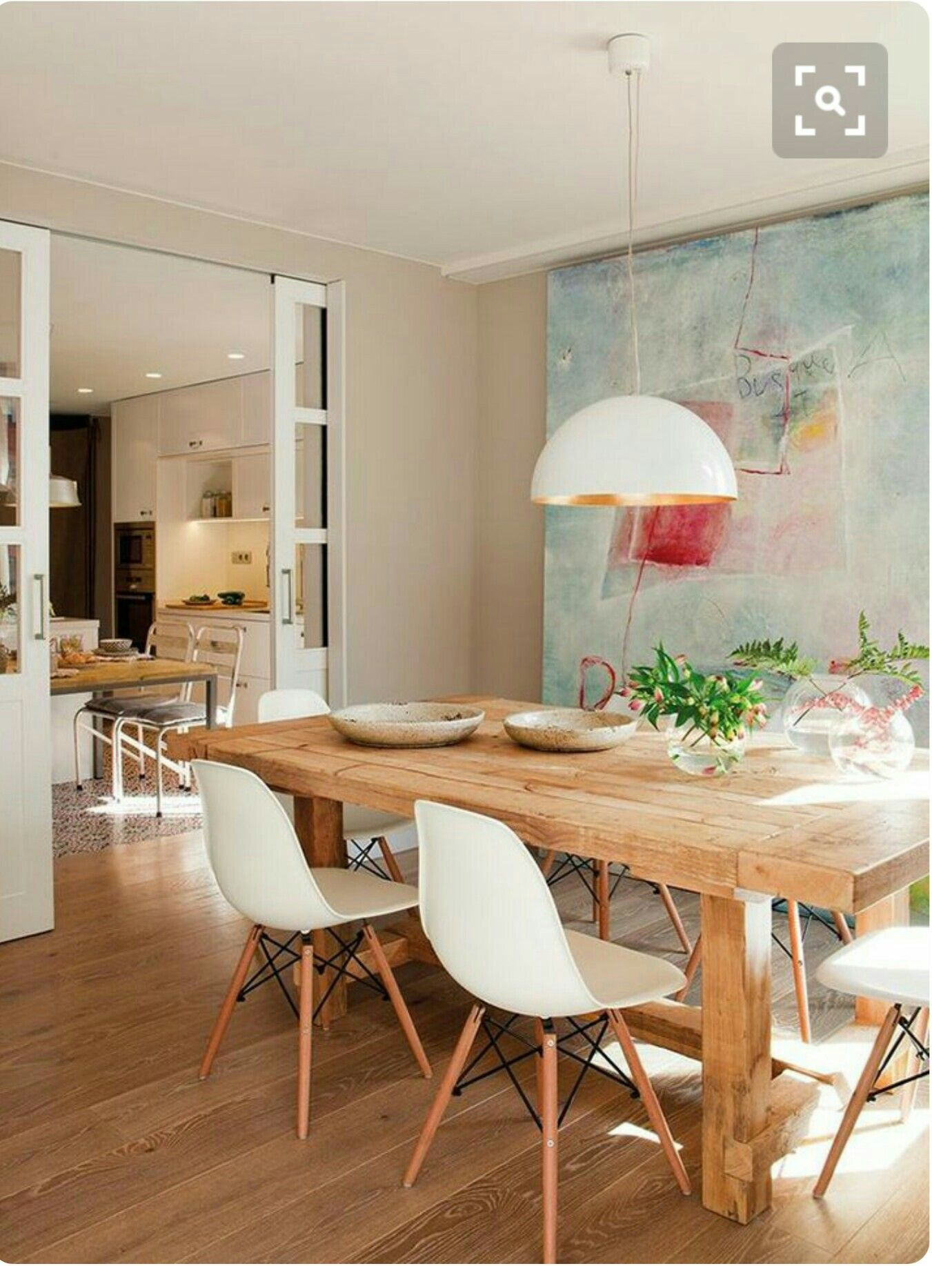 Küche Esszimmer, Wohnzimmer Ideen, Abstrakte Malerei, Einrichtung, Rund Ums  Haus, Kleines Zuhause, Runde, Laminat, Renovieren