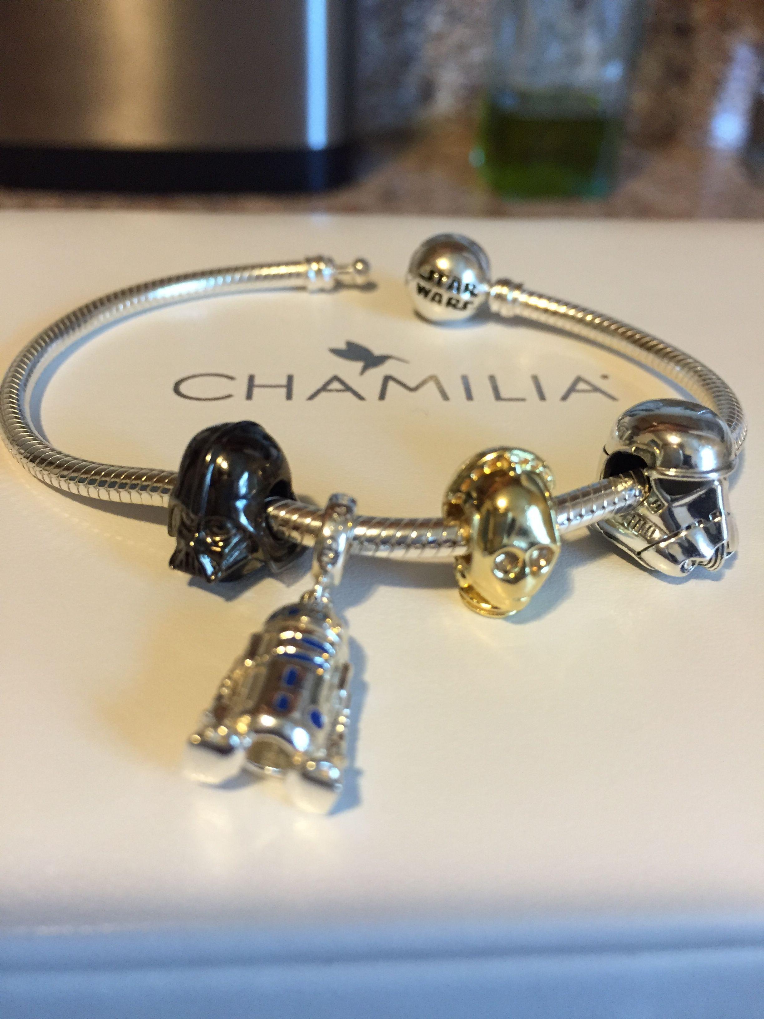1c80dba5789d4 Chamilia Star Wars bracelet. Dart Vader, R2D2, C3PO and Storm ...