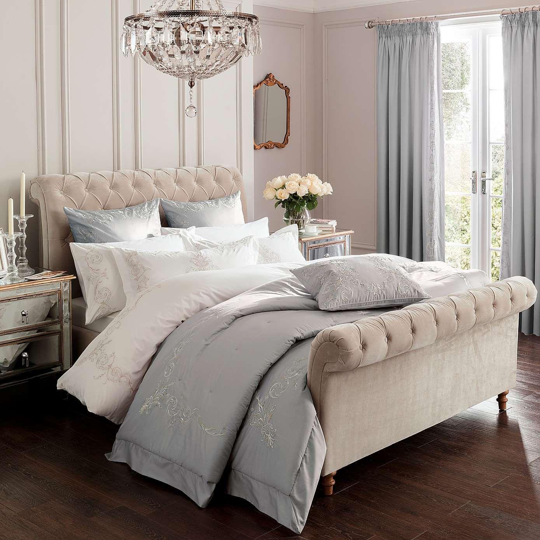 Dorma Grey Brocatello Bed Linen Collection