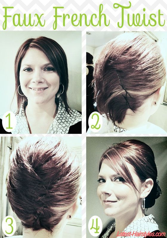 How Fab Is This Faux French Twist Tutorial For Short Hair Get The Look With These Easy Steps
