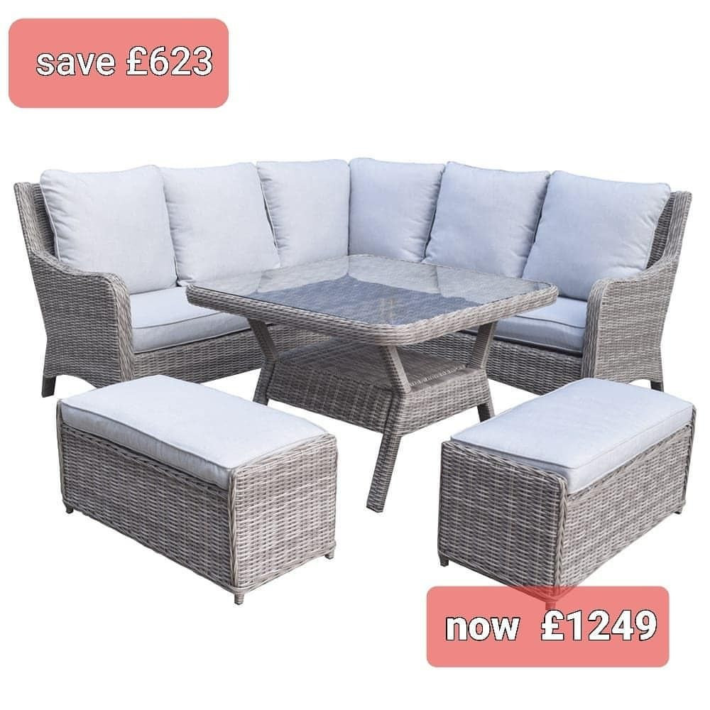 Homeflair Luxury Rattan Garden Furniture Sale Now On Save Up To In 2020 Corner Sofa Dining Table Brown Corner Sofas Sofa Dining Table