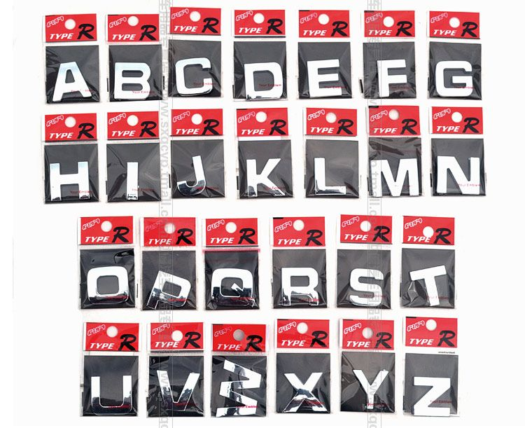 D Metal Letters Stickers For Cars Individual Numbers And English - Letter stickers for cars