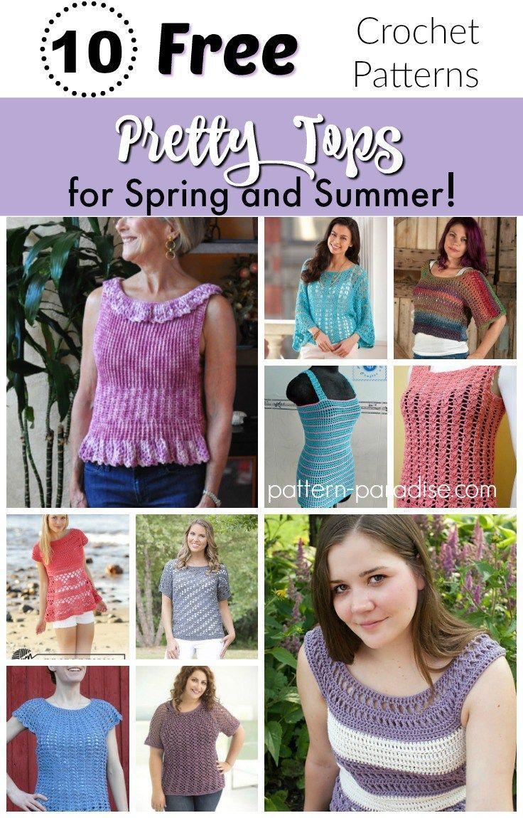 Crochet Finds - Pretty Tops for Spring and Summer | Summer patterns ...