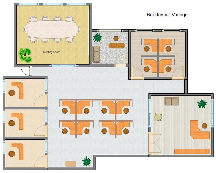 Beispiele der Büroplanung Büroplanung, Grundriss, Planer