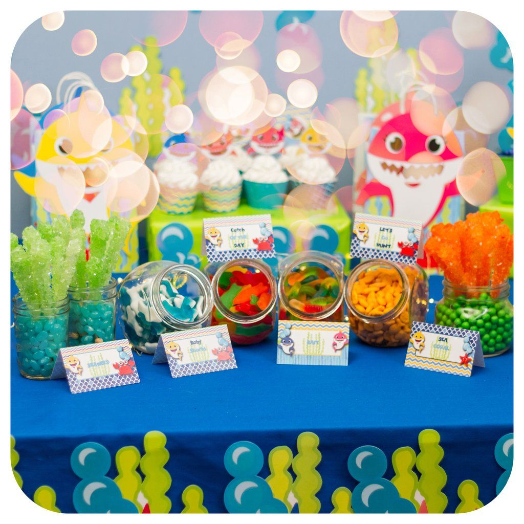 Baby Shark Food Tent Labels in 2020 2nd birthday party