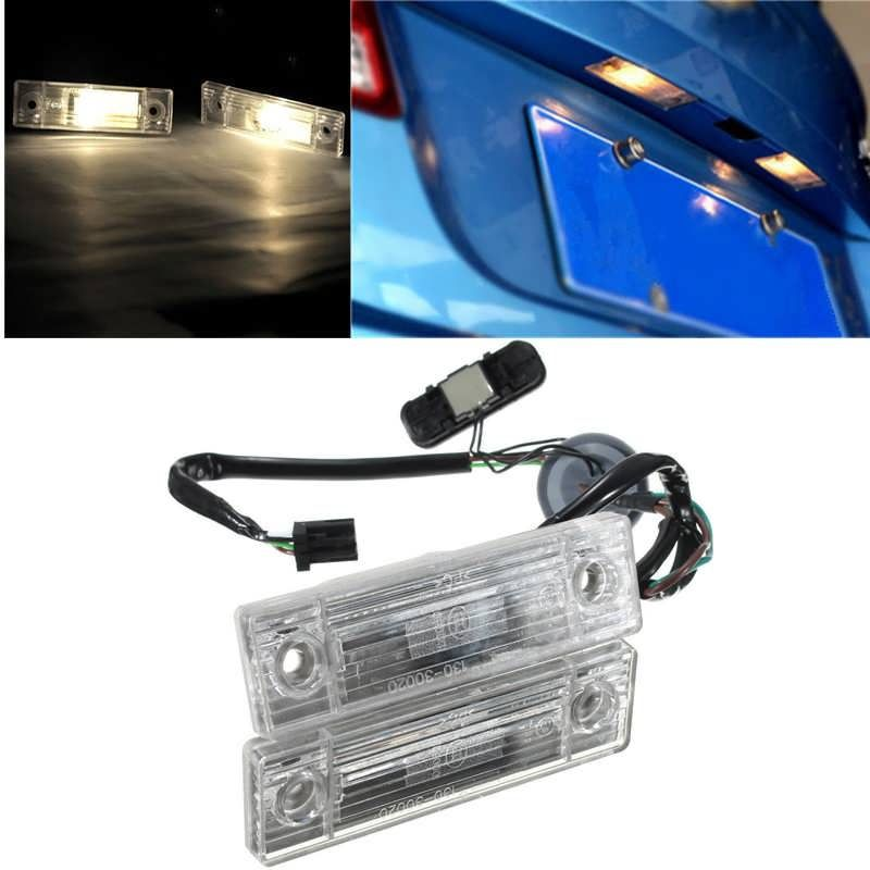 Car Rear Trunk Switch Assembly License Plate Lamp Light For ...