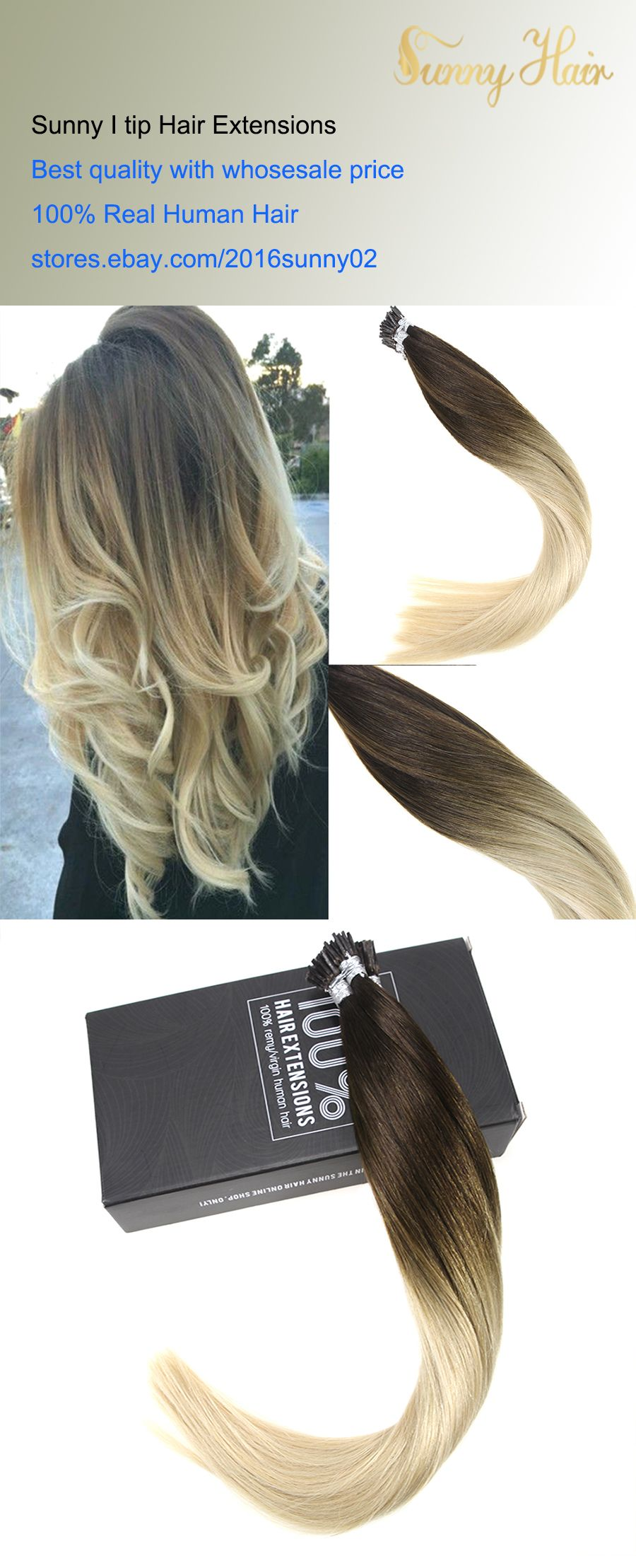 Sunny 25g Keratin I Tip Human Hair Extensions Remy Human Brown To