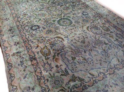 Perzisch Tapijt Blauw : Fraai sleets turquoise perzisch tapijt kashmir 120 x 185 cm tapijt