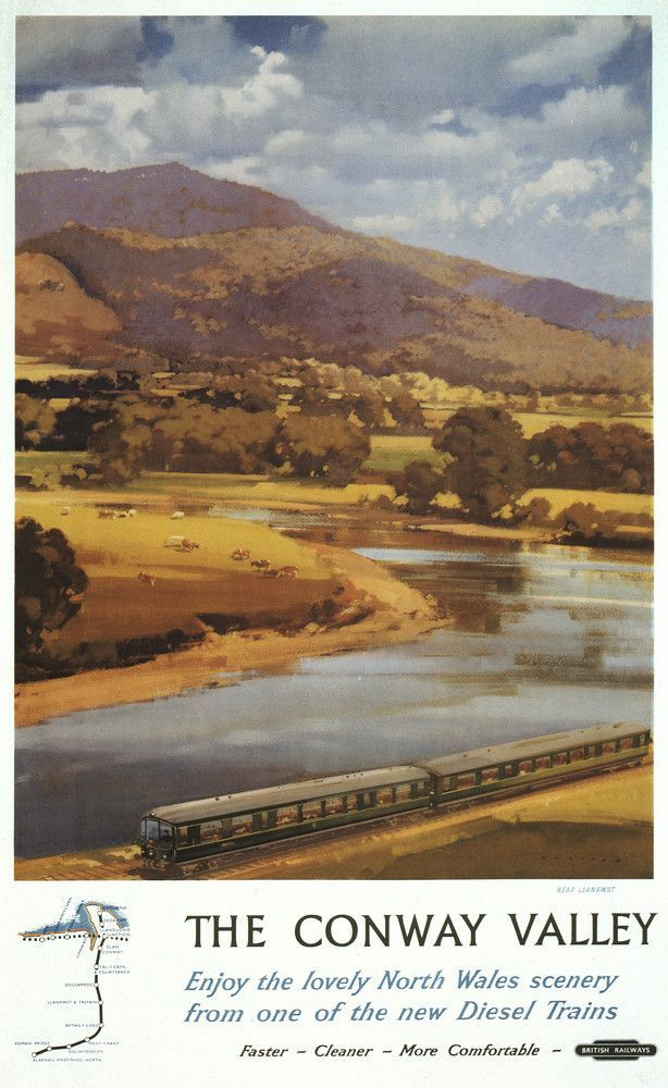 The Cairngorm Mountains Railway Old Advert Poster Beauty View Holiday Photo