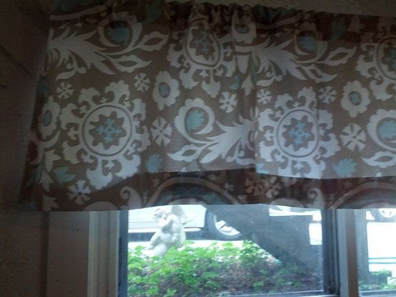 Valance suzani blue or any color available  16x50 by PillowPanache