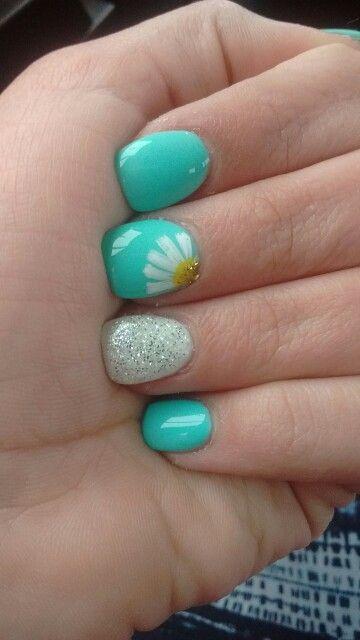 spring nail design short