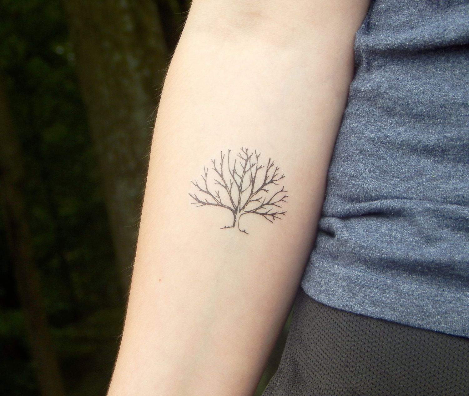 Temporary Tattoo - Tree Tattoo - Tree Branch Tattoo ...