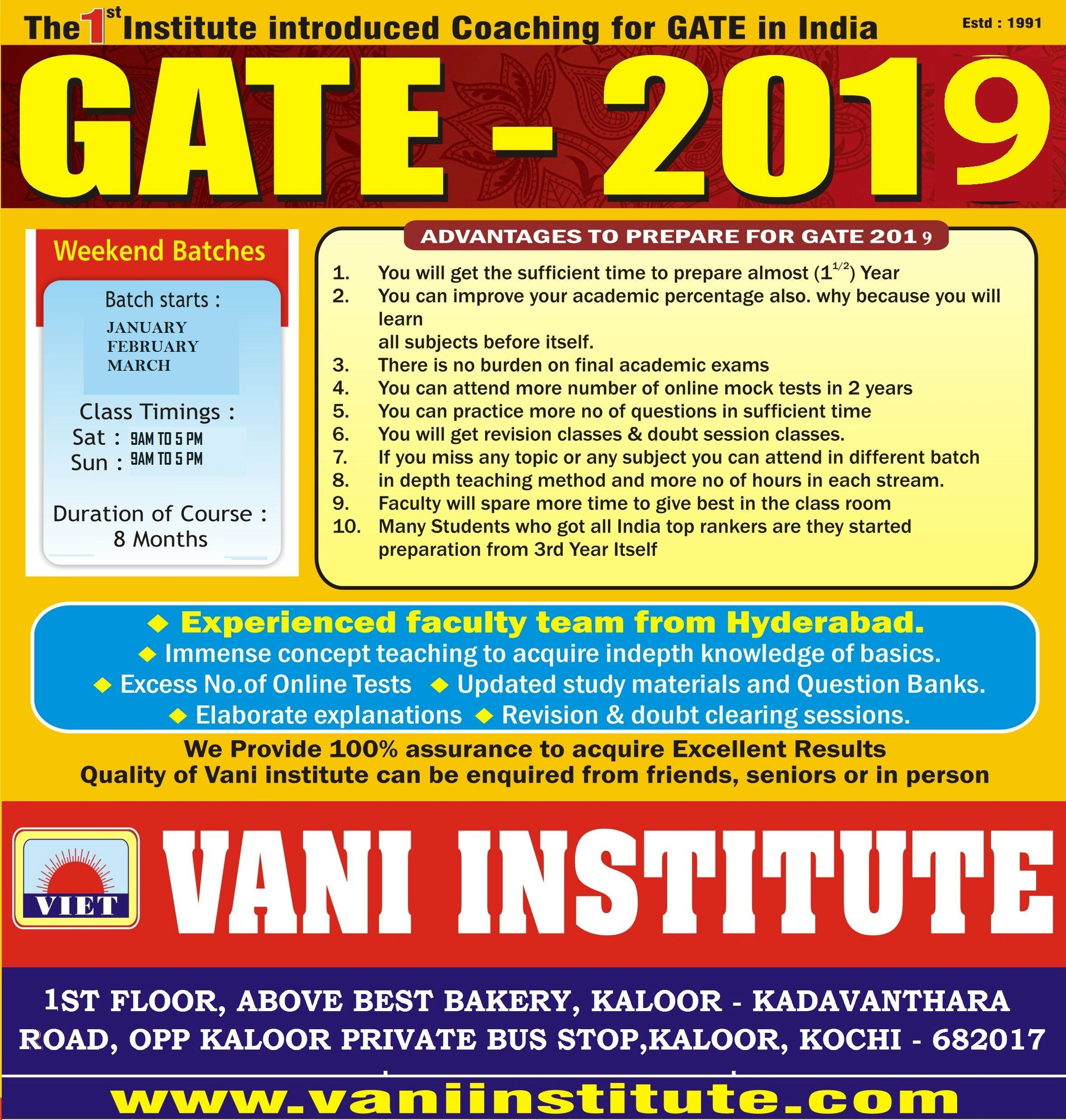 Pin On Gate Ese Admission 2018 2019
