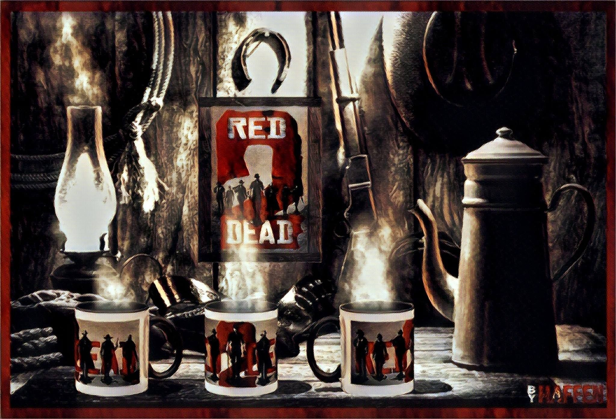 RDR 2 - Coffee time. by Haffen
