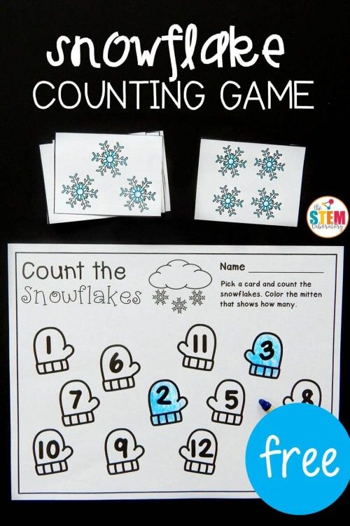 Snowflake Counting Game | Printables | Pinterest | Counting games