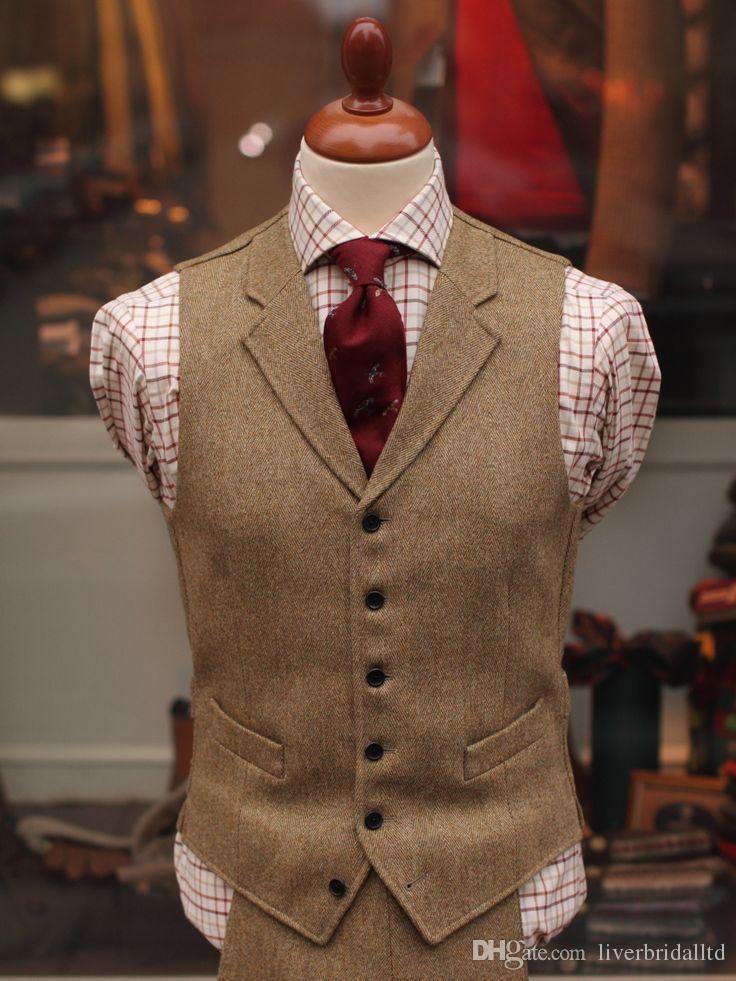 2015 New Tailored Tweed Vest Tuxedos Custom Made Suits Vest Groommens Suits Vest Mens Wedding Vest For Men Formal Dress For Man Formal For Mens From Liverbridal Formal Dresses For Men